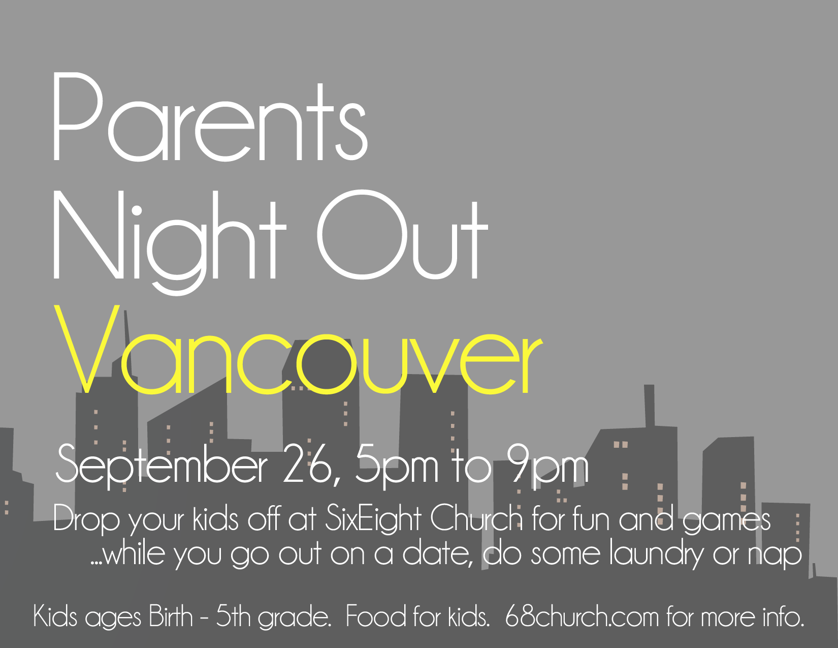 Parent's Night Out, September 26, 2014