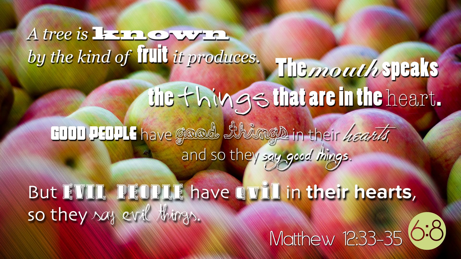 Free Computer Wallpaper – Matthew 12:33-35