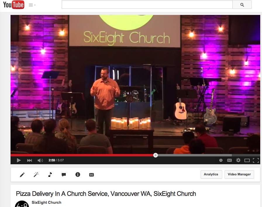 Pizza Delivery in Church Service, Vancouver, WA – SixEight Church #mefirst