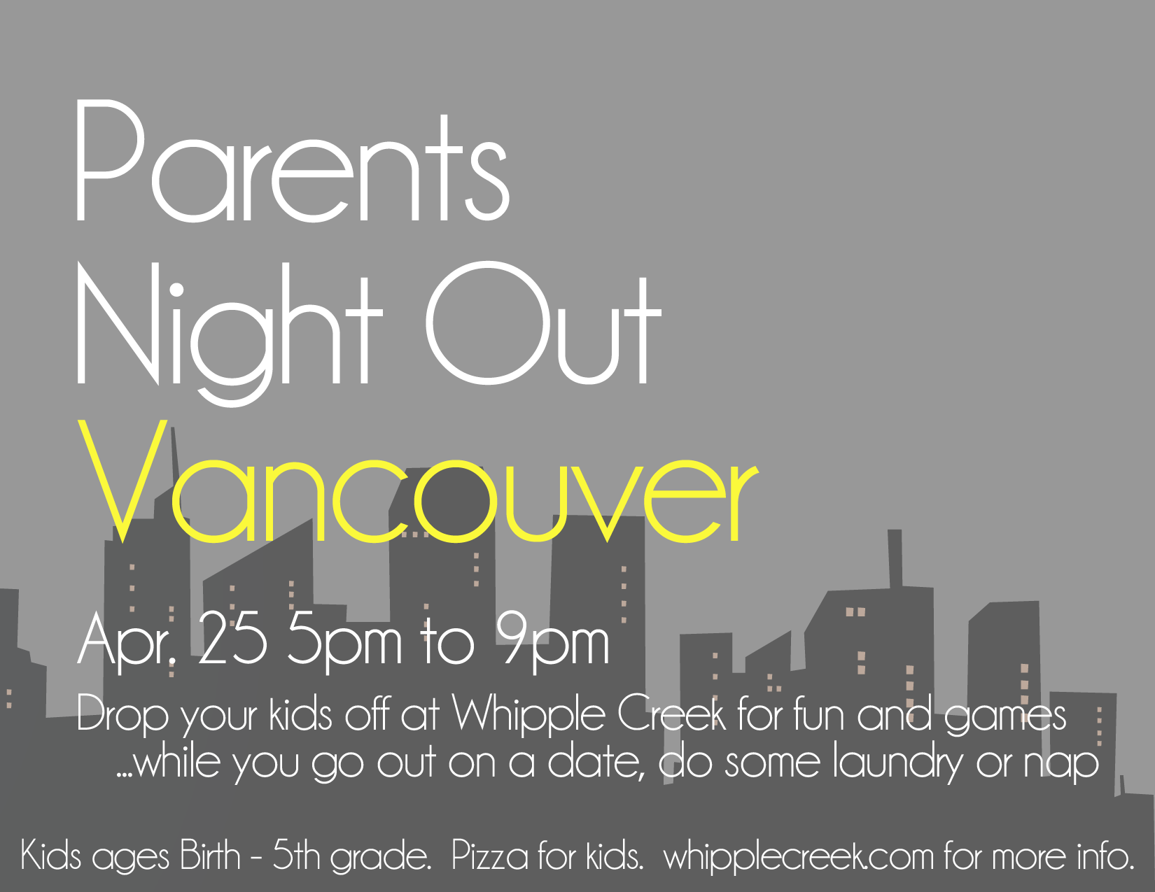 Parent's Night Out – April 25, 2014