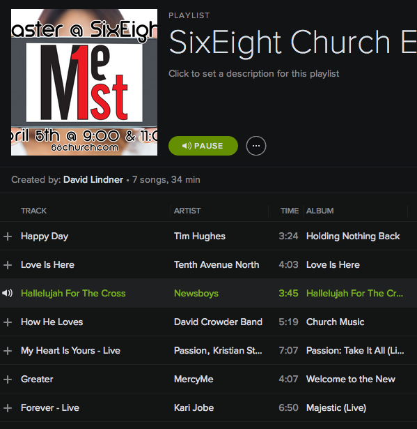SixEight Church Easter Songs 2015
