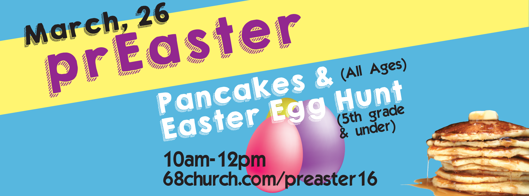 prEaster Pancakes and Easter Egg Hunt – 2016