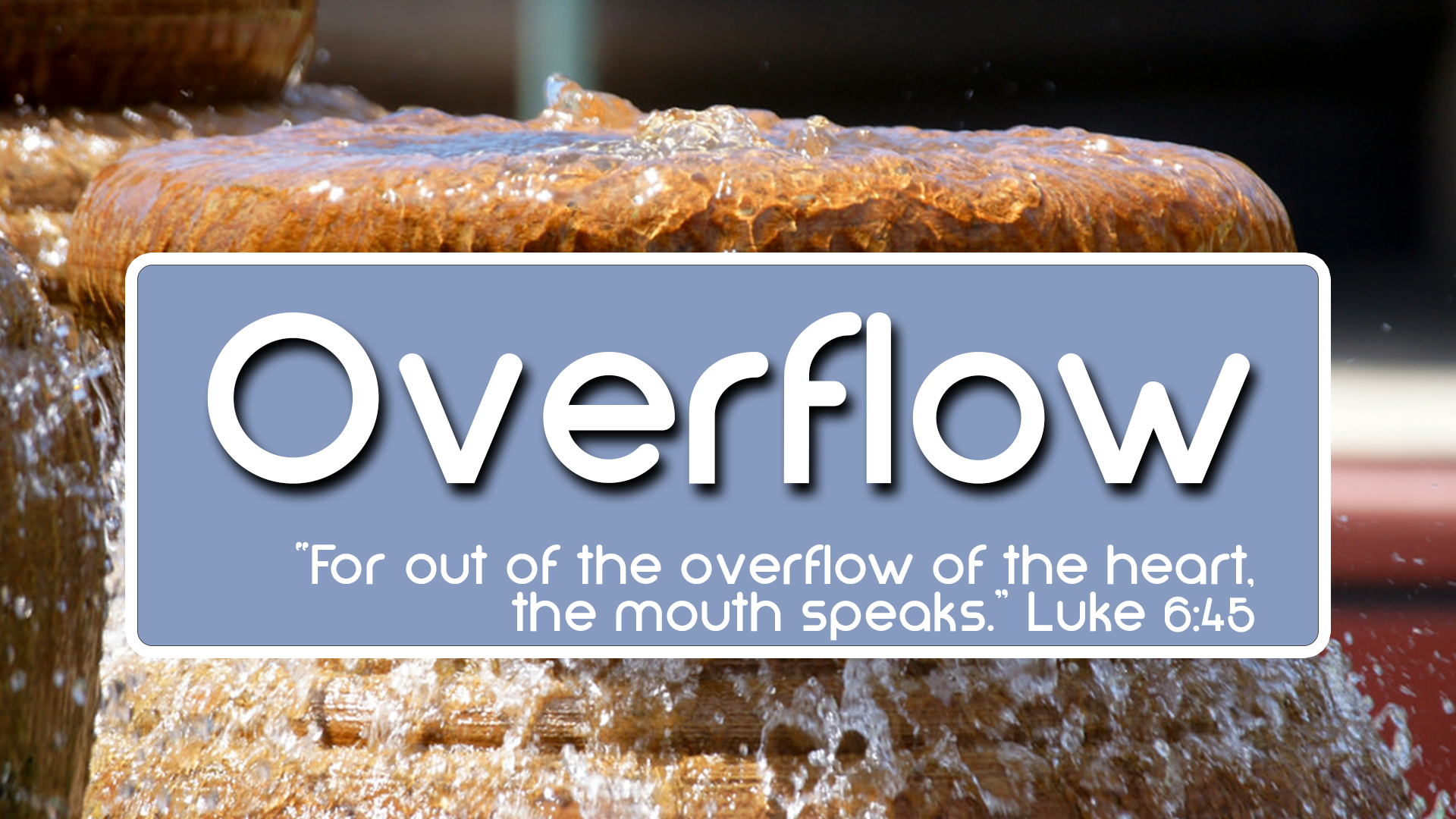 Overflow, Part 6: The Right Purpose